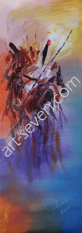 The Return of Tohazie, ca. 80x30 cm, Preis: € 1.100